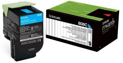 LEXMARK - LEXMARK 808C MAVİ ORJİNAL TONER (80C80C0) CX410 / CX510