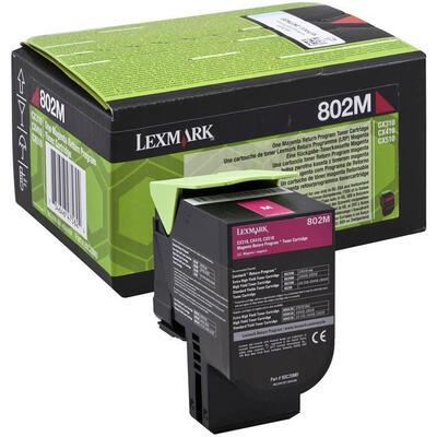 LEXMARK - Lexmark 802M Kırmızı Orjinal Toner (80C20M0) - CX310 / CX410 / CX510