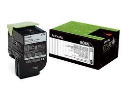 LEXMARK - LEXMARK 808SK SİYAH ORJİNAL TONER (80C8SK0) CX310 / CX410 / CX510