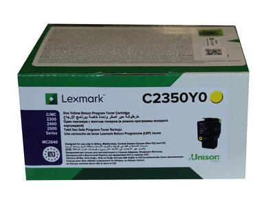 LEXMARK - Lexmark C2350Y0 Sarı Orjinal Toner - C2240 / C2325dw / C2425dw