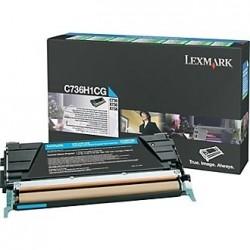 LEXMARK - LEXMARK C736 C736H1CG MAVİ ORJİNAL TONER-C736 / X736 / X738