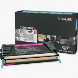 LEXMARK - LEXMARK C736 C736H1MG KIRMIZI ORJİNAL TONER-C736 / X736 / X738