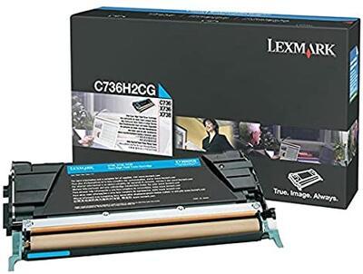 LEXMARK - Lexmark C736H2CG Yüksek Kapasite Mavi Orjinal Toner - X736 / X738