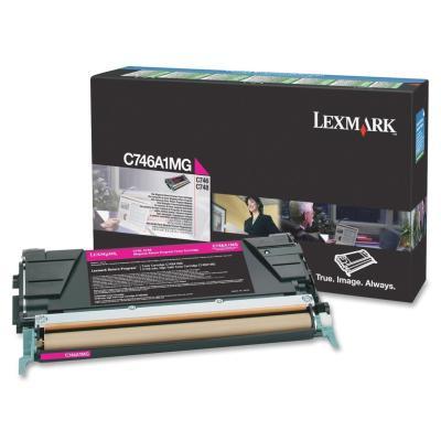 LEXMARK - LEXMARK C746A1MG KIRMIZI ORJİNAL TONER C746 / C748 (B)