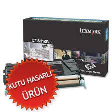 LEXMARK - LEXMARK C746H1KG SİYAH ORJİNAL TONER C746 / C748 - YÜKSEK KAPASİTE