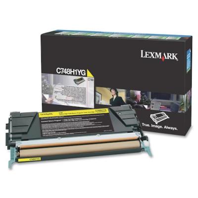 LEXMARK - LEXMARK C748H1YG SARI ORJİNAL TONER 10.000 Sayfa