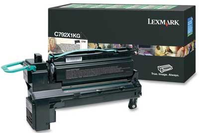 LEXMARK - LEXMARK C792X1KG SİYAH ORJİNAL TONER Yüksek Kapasite