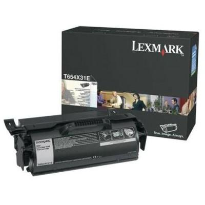 LEXMARK - Lexmark T654 T654X31E Siyah Orjinal Toner Yüksek Kapasite 36,000 Sayfa