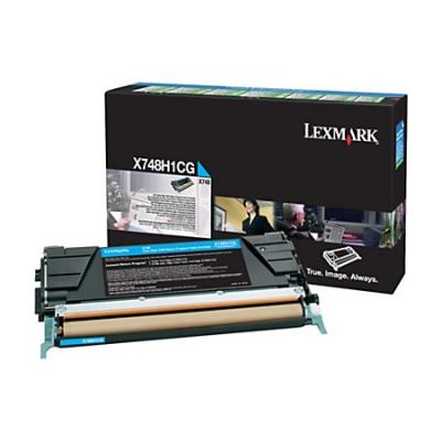 LEXMARK - LEXMARK X748H1CG MAVİ ORJİNAL TONER Yüksek Kapasite 10.000 Sayfa