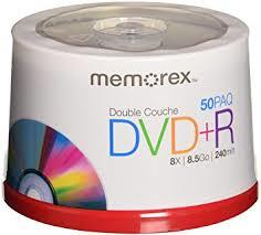 - Memorex DVD-R 4.7GB 16X 50'li Paket Cakebox