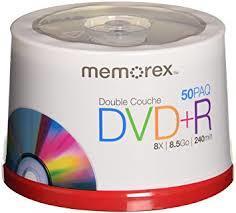 - Memorex DVD-R 4.7GB 16X 50'li Paket Cakebox
