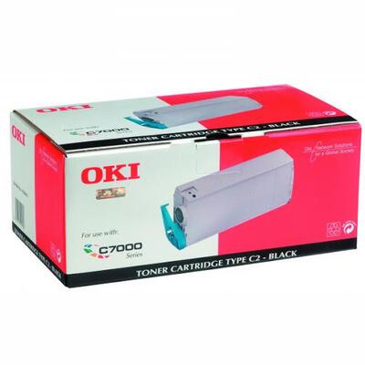 OKI - Oki 41304212 Siyah Orjinal Toner - C7200 / C7400