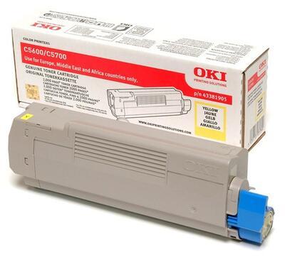 OKI - OKI 43381905 Sarı Orjinal Toner - C5600 / C5700