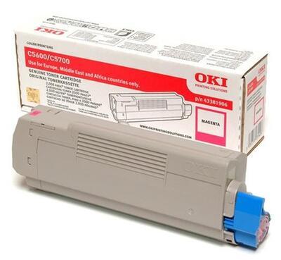 OKI - OKI 43381906 Kırmızı Orjinal Toner - C5600 / C5700