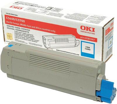 OKI - OKI 43381907 Mavi Orjinal Toner - C5600 / C5700