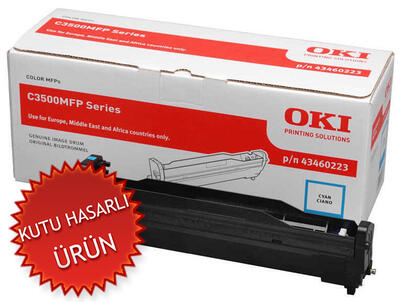OKI - Oki 43460223 C3500 / MC350 / MC360 Mavi Orjinal Drum Ünitesi (C)
