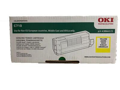 OKI - Oki 43866121 Sarı Orjinal Toner - C710 / C711