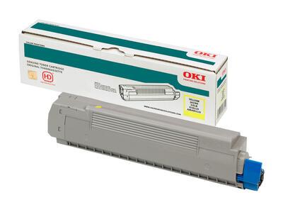 OKI - OKI 44844625 Sarı Orjinal Toner - C822