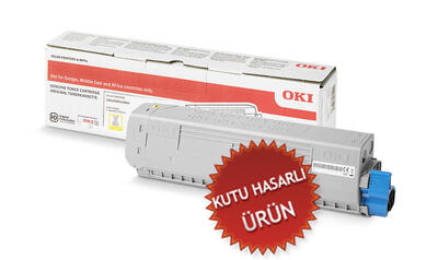 OKI - OKI 46471105 Sarı Orjinal Toner C823 / C833 / C843 (C)