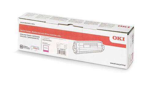 OKI 47095702 Kırmızı Orjinal Toner - C824DN / C834DNW