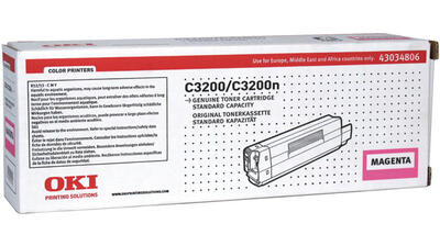 OKI - Oki 43034806 Kırmızı Orjinal Toner - C3200