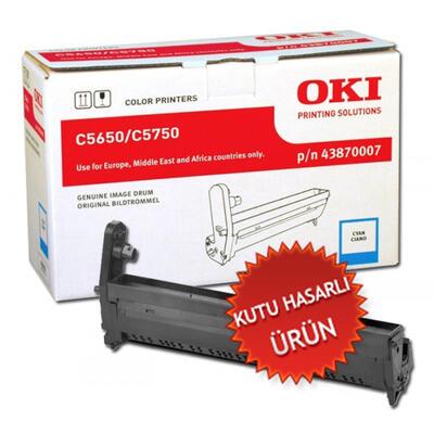 OKI - OKI C5650 / C5750 43870007 Mavi Orjinal Drum Ünitesi (C)