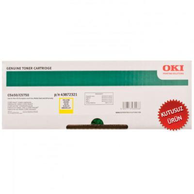 OKI - OKI C5650 / C5750 43872321 Sarı Orjinal Toner (U)