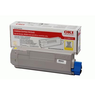 OKI - OKI C5850 / C5950 43865721 Sarı Orjinal Toner