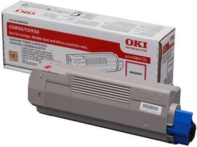 OKI - OKI C5850 / C5950 43865722 Kırmızı Orjinal Toner