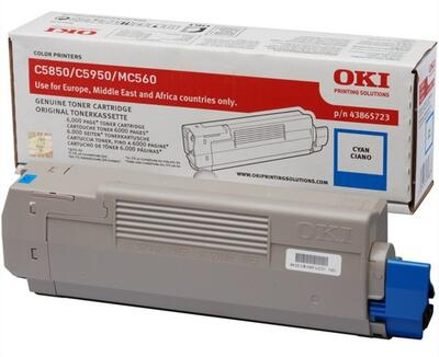 OKI - OKI C5850 / C5950 43865723 Mavi Orjinal Toner