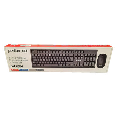 PERFORMAX - Performax SK1004 Kablosuz Siyah Klavye + Mouse Set