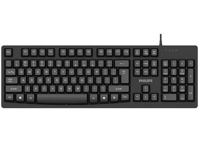PHILIPS - Philips K214 Siyah USB Q Multimedia Klavye (SPK6214)