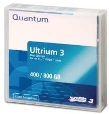 - QUANTUM LTO-3 Ultrium 3 400 GB / 800 GB DATA KARTUŞU 680m, 12.65mm