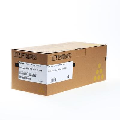 RICOH - Ricoh 407635 SP-C310HE Sarı Orjinal Toner - SP-C231SF / SP-C232