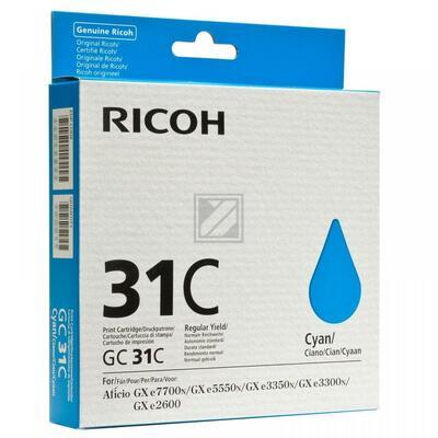 RICOH - Ricoh GC-31 Mavi Orjinal Kartuş (405689) GXe3300N, GXe3350N, GXe5550N, GXe7770N