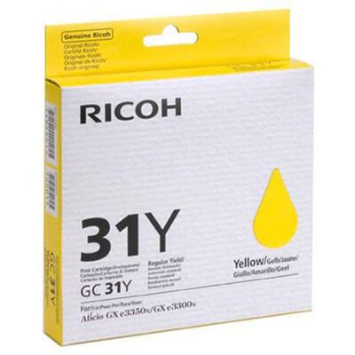 RICOH - Ricoh GC-31 Sarı Orjinal Kartuş (405691) GXe3300N, GXe3350N, GXe5550N, GXe7770N