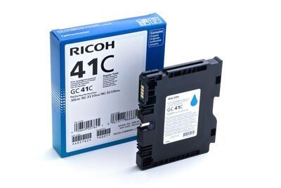 RICOH - Ricoh GC41C 405762 Geljet Mavi Orjinal Kartuş SG2100 / SG3110 / SG3100