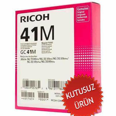 RICOH - Ricoh GC41M 405767 Geljet Kırmızı Orjinal Kartuş SG2100 / SG3110 / SG3100 (U)