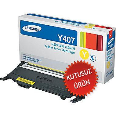 SAMSUNG - Samsung CLP-320 / CLP-325 CLT-Y407S Sarı Orjinal Toner (U)