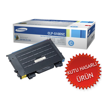 SAMSUNG - Samsung CLP-510D5C/SEE CLP-510 Mavi Orjinal Toner (C)