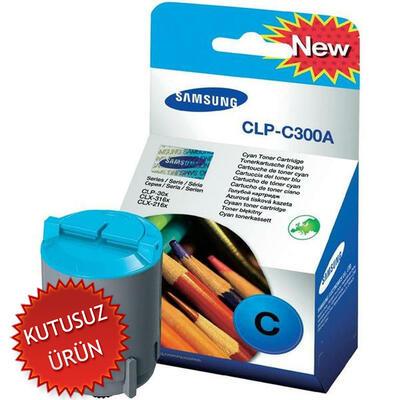 SAMSUNG - Samsung CLP-C300A (CLP-300) Mavi Orjinal Toner (U)