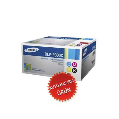 SAMSUNG - Samsung CLP-P300C/SEE 4LÜ Paket Orjinal Toner - CLP300 (C)