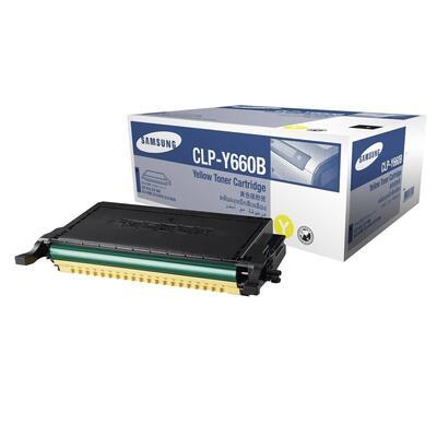 SAMSUNG - Samsung CLP-Y660B/SEE Sarı Orjinal Toner CLP-610/CLP-660