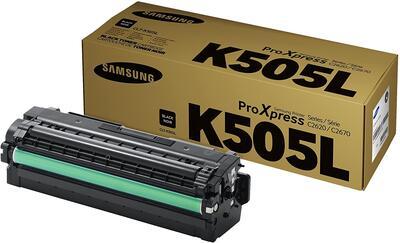 SAMSUNG - Samsung CLT-K505L Siyah Orjinal Toner - SL-C2620DW