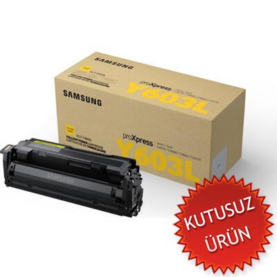 SAMSUNG - Samsung CLT-Y603L Sarı Orjinal Toner (U)