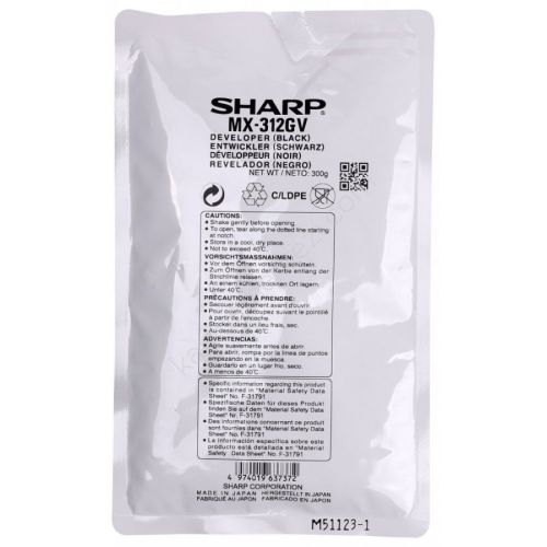 Sharp MX-312GV Orjinal Developer MX-M260 / MX-M310 / AR-5726 / AR-5731