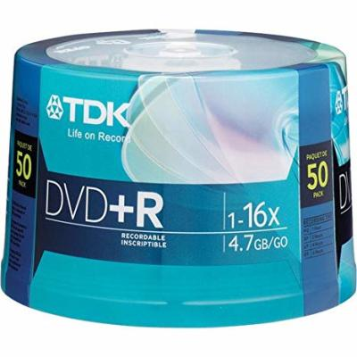 - TDK DVD-R 4.7GB 16X 50'li Paket Cakebox