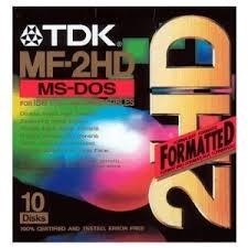 SONY - TDK MF2HD 3.5 HD 1,44 MB FLOPPY DISK - Biçimlendirilmiş Disket 10LU Paket