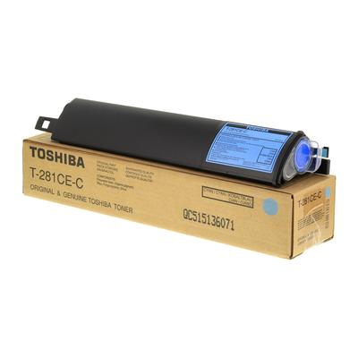 TOSHIBA - Toshiba T-281CE-C Mavi Orjinal Toner E-Studio 281c, 351c, 451c