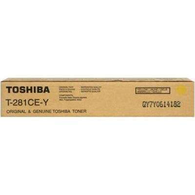 TOSHIBA - Toshiba T-281CE-Y Sarı Orjinal Toner E-Studio 281c, 351c, 451c